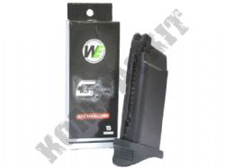 WE Airsoft G-Series EU G26 / G27 / G33 Advance 15 x 6mm Round Gas Magazine Black